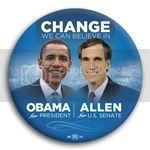 3035 Obama and Allen Photo Button - 3&amp;quot;, BT29231