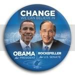 3052 Obama and Rockefeller Photo Button - 3&amp;quot;, BT29236