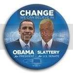3054 Obama and Slattery Photo Button - 3&amp;quot;, BT29238