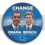 3055 Obama and Begich Photo Button - 3&amp;quot;, BT29239