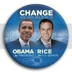 3057 Obama and Rice Photo Button - 3&amp;quot;, BT29241