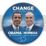 3058 Obama and Noriega Photo Button - 3&amp;quot;, BT29242