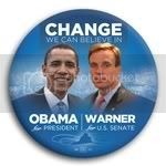 3059 Obama and Warner Photo Button - 3&amp;quot;, BT29243