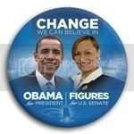 3060 Obama and Figures Photo Button - 3&amp;quot;, BT29244