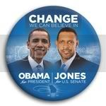 3062 Obama and Jones Photo Button - 3&amp;quot;, BT29246