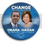 3064 Obama and Hagan Photo Button - 3&amp;quot;, BT29248