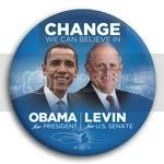 3066 Obama and Levin Photo Button - 3&amp;quot;, BT29250
