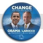 3067 Obama and Larocco Photo Button - 3&amp;quot;, BT29251