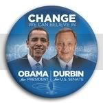 3068 Obama and Durbin Photo Button - 3&amp;quot;, BT29253