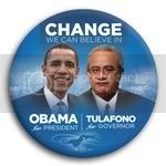 3050 Obama and Tulafono Photo Button - 3&amp;quot;, BT29254