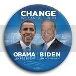 3070 Obama and Biden Photo Button - 3&amp;quot;, BT29256