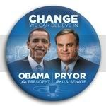 3071 Obama and Pryor Photo Button - 3&amp;quot;, BT29257