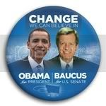 3073 Obama and Baucus Photo Button - 3&amp;quot;, BT29259