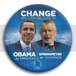 3040 Obama and Springmeyer Photo Button - 3&amp;quot;, BT29263