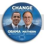 3042 Obama and Mathern Photo Button - 3&amp;quot;, BT29265