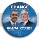 3048 Obama and Lautenberg Photo Button - 3&amp;quot;, BT29271