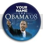 2982 Personalized Obama '08 Photo Button - 3&amp;quot;, BT29350