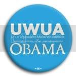 3157 UWUA for Barack Obama Button - 2 -1/4&amp;quot;, BT29417
