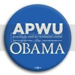 3159 APWU for Barack Obama Button - 2 -1/4&amp;quot;, BT29420