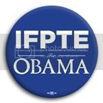 3164 IFPTE for Barack Obama Button - 2 -1/4&amp;quot;, BT29426
