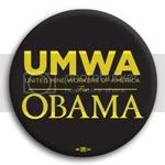 3168 UMWA for Barack Obama Button - 2 -1/4&amp;quot;, BT29431