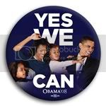 2984 Yes We Can Obama Family Photo Button - 3&amp;quot;, BT29513