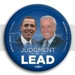 3177 Obama and Biden Judgment to Lead Photo Button - 3&amp;quot;, BT29525
