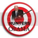 2720 Hunters for Obama Photo Button - 2 1/4&amp;quot;, BT29590