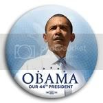 2971 Obama Our 44th President Photo Button - 3&amp;quot;, BT29870