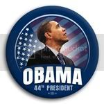 2970 Obama 44th President Flag Photo Button - 2 1/4&amp;quot;, BT29871