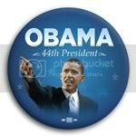 2974 Obama 44th President Blue Photo Button - 2 1/4&amp;quot;, BT29875