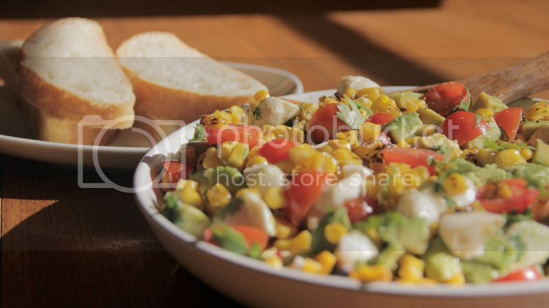 Roasted Corn and mozarella recipe