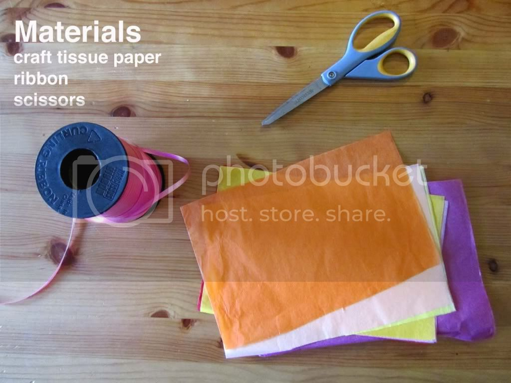 paper flowers materials
