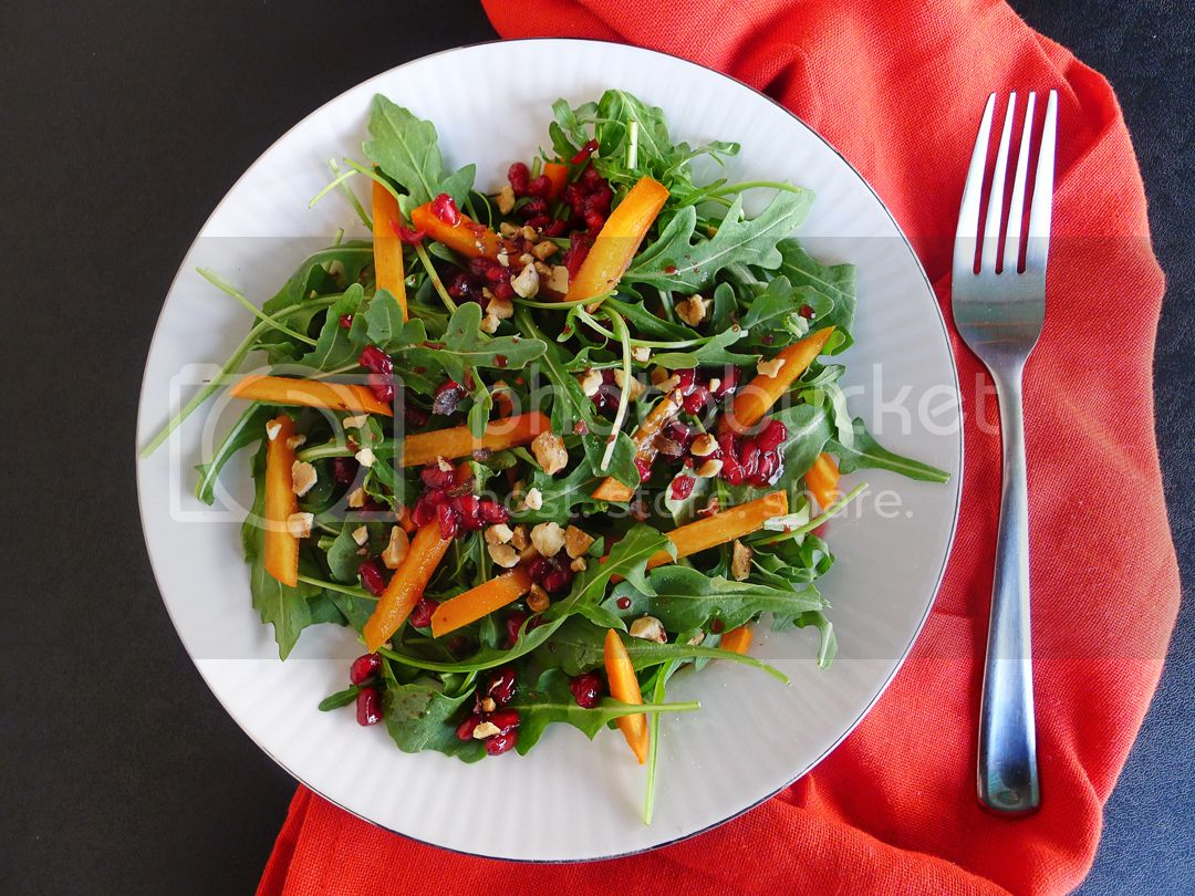 persimmons and pomegranate salad recipe 