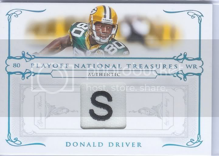 Donald Driver - NT Laundry Tag Patch 1/4